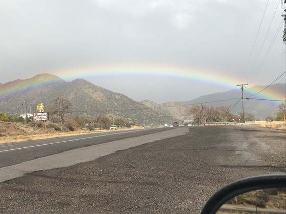 Beautiful rainbow over Carnuel