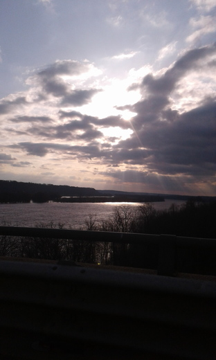 It looked as if the Lord, were looking through the clouds at the Ohio River