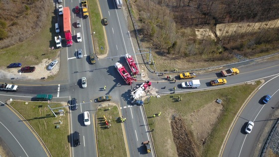 This is the current overturned concrete truck