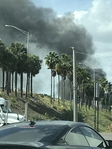 Looks like a car fire on I4 @ Sand Lake.