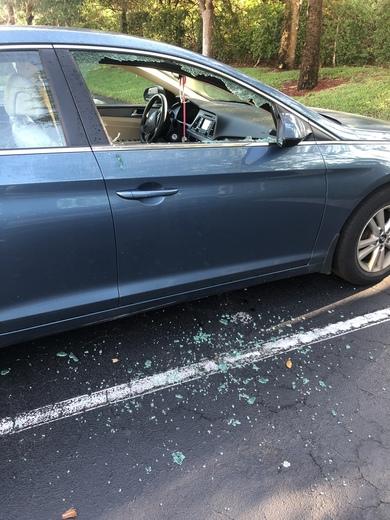 Vandalized cars