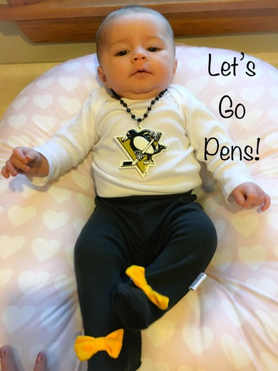 Penguins Baby's first playoffs