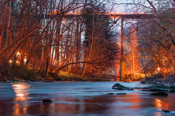 Enola Low-grade trestle bridge fire