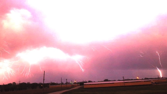Lightning shot from Blue Ribbon Downs in Sallisaw