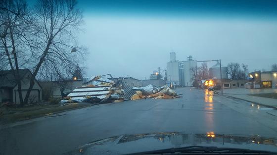 Damage in Hubbard, IA.