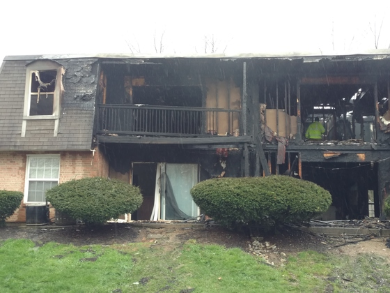 Fire at Fairfield Pointe apartment complex today