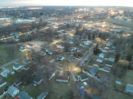 Twilight in Marshalltown