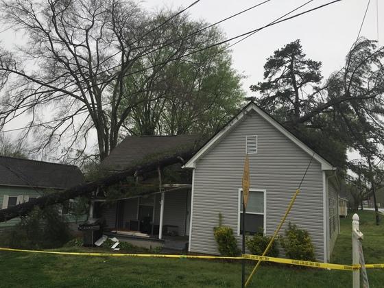 Sunday storm damage