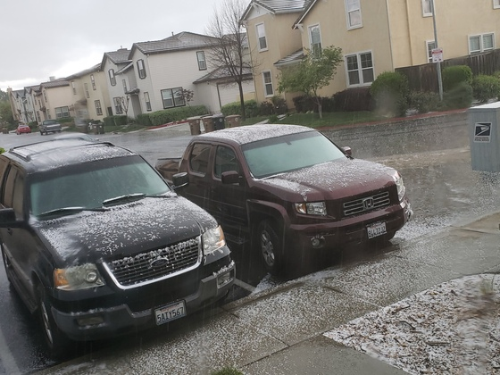 Hail in Elk Grove