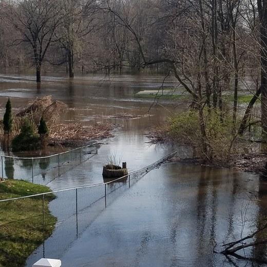 Saddle brook park flooded
