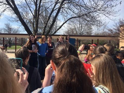 Hocker Grove Middle School held a walkout