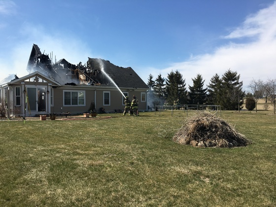 Home fire Mukwonago.home Total loss 5 assisted by RedCross