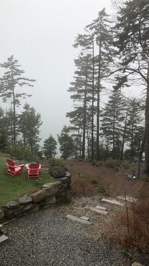 Foggy Harpswell Morning at Basin Cove