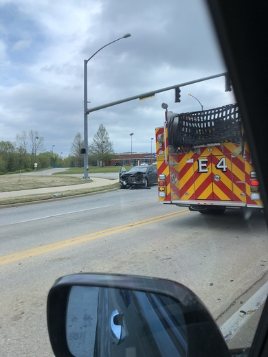 Really bad car accident on Joyce Boulevard in