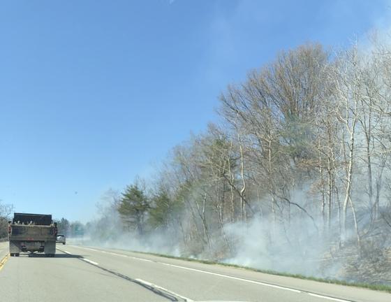 279 North, brush fire