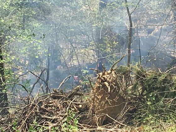 FIRE on hillside in wrightsville pa.