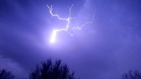 Lightning in Kansas City Kansas