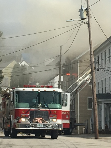 Fire on Arch street Laconia