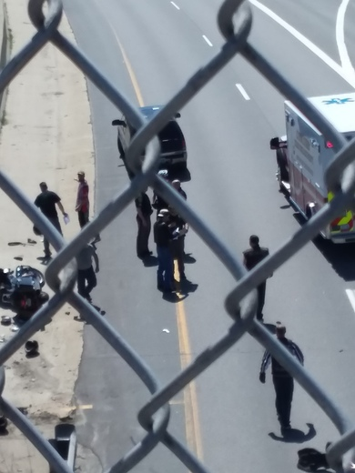 Exit 12 s concord right before the on ramp car and motorcycle accident