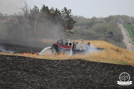 Large Brush Fire at Glacier Creek Preserve