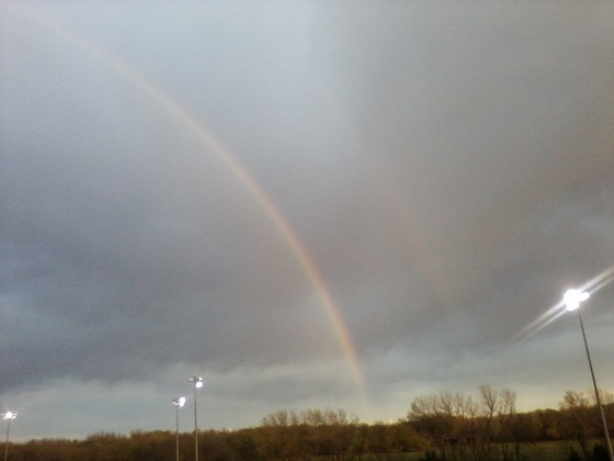 Double Rainbow at Adams County Speedway
