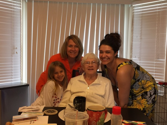 4 generations of strong women