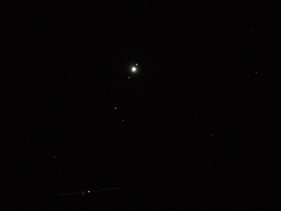 Jupiter With Its Four Moons