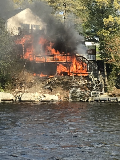 Whitman pond fire in Weymouth