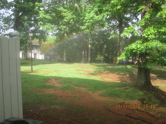 Rainbow in backyard within' walking distance!