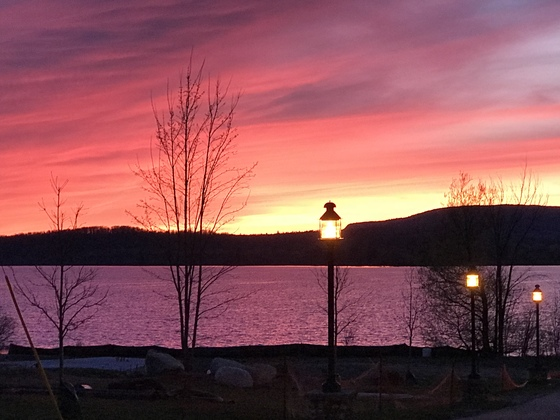 Sunset in Tupper Lake
