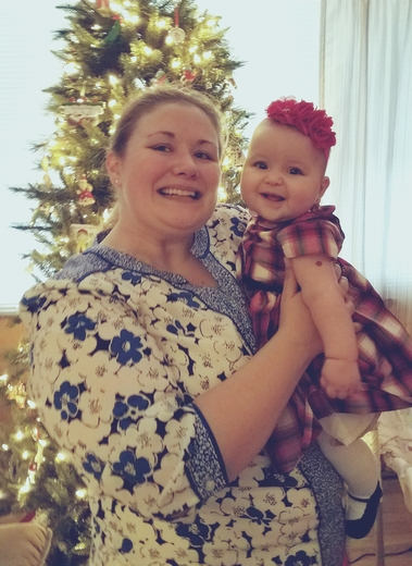 Mommy with Maddie on her 1st Christmas