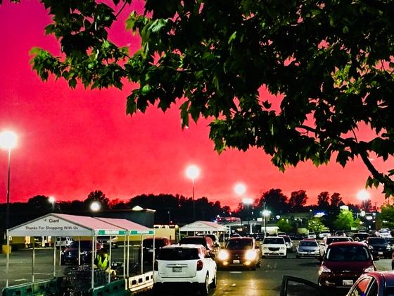 Monday's twilight sky in Bel Air! #goCAPS