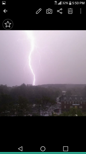 Taken during Tuesday's t-storm on cell phone..Framingham.