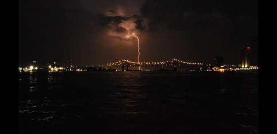 Lightning in new orleans
