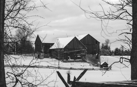 The Old Farm in Winter