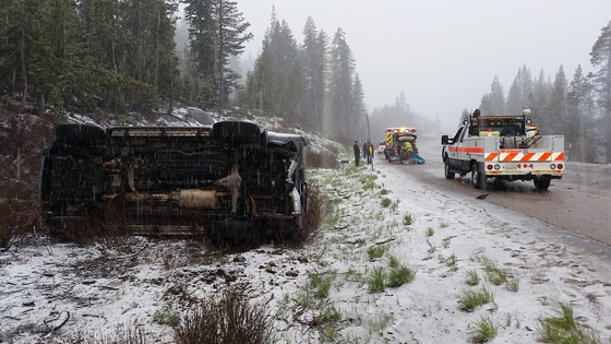 Multiple accidents this afternoon on Donner summit.