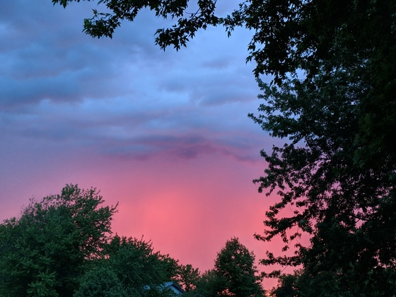 Beautiful sky before the storms near Lathrop Mo.