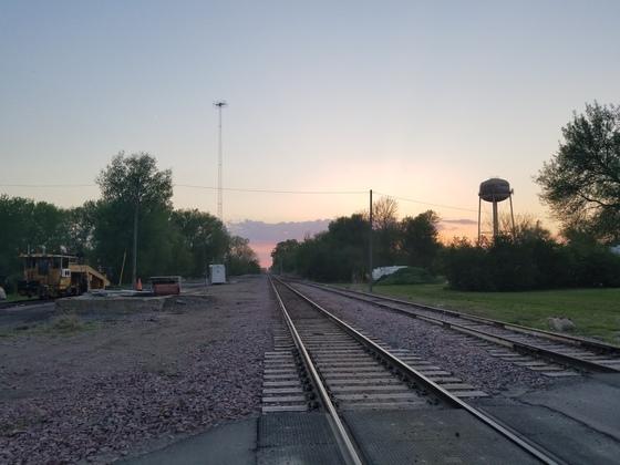 Sun set in Fonda,  Iowa