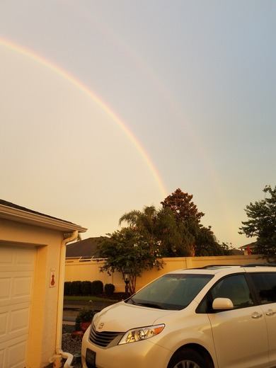 Double rainbow over The Villages in between rainstorms