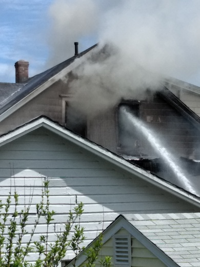 House fire at 6 pine st. Sanford,  Maine