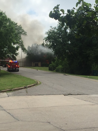 Fire at west oak elementary school