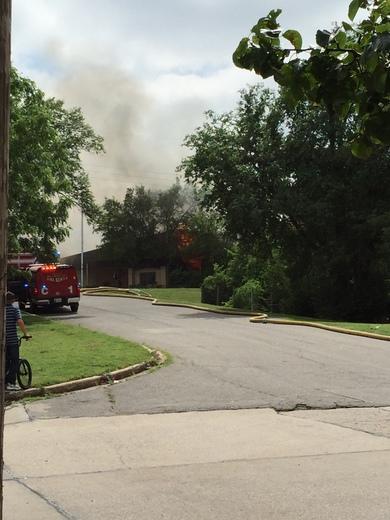 Fire at west oak elementary school