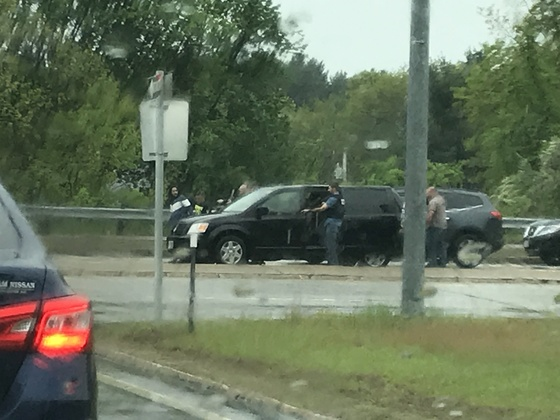 Some kind of major bust at Bridge Street and I-93 in Manchester.