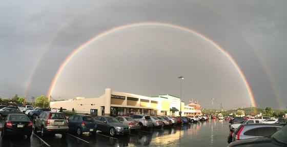 DOUBLE RAINBOW AT LA FITNESS BRIDGEVILLE!!!