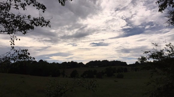 Beautiful view! After the storm here in Tobaccoville, King.