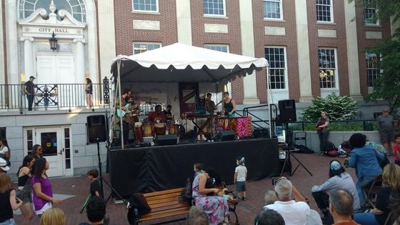 Sabouyouma on the City Hall stage