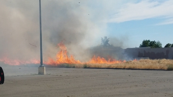 Fire near north highlands post office