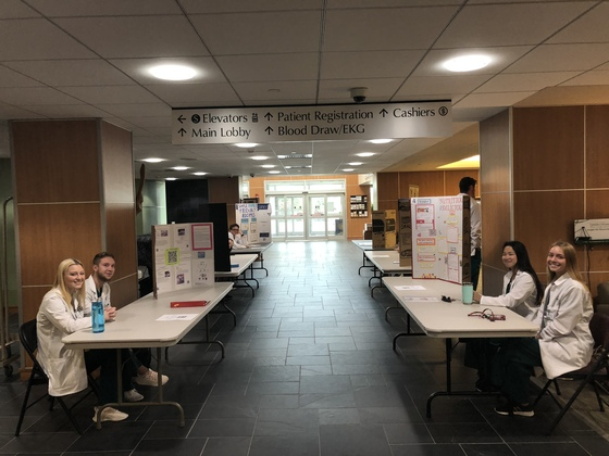 CV-TEC New Visions Medical students showcasing projects