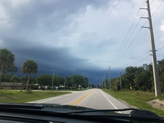 Storms rolling in here in Vero Beach!