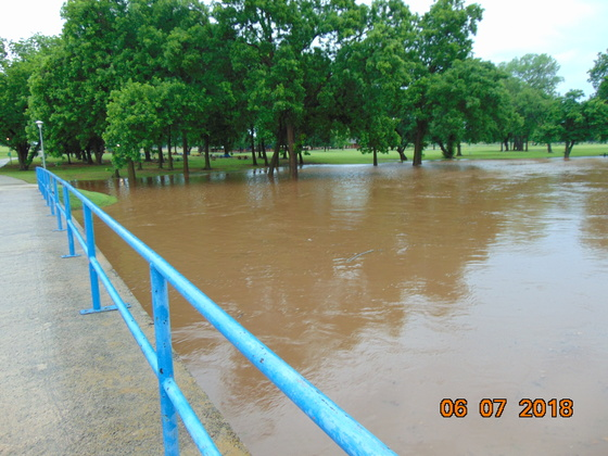 Flash flood this morning